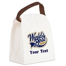 Personalized Worlds Best Canvas Lunch Bag