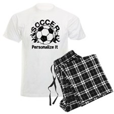Personalized Soccer Flames Pajamas