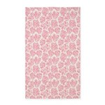 Flourish Leaves Pink 3'x5' Area Rug
