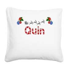 Quin, Christmas Square Canvas Pillow