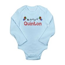Quinton, Christmas Long Sleeve Infant Bodysuit