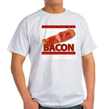 """Powered by BACON"" Ash Grey T-Shirt"