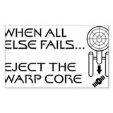 Eject the Warp Core Sticker (Rectangle)