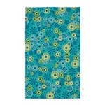 Flower Dots Layer Teal Green 3'x5' Area Rug