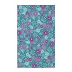 Flower Dots Layer Blue/Purple 3'x5' Area Rug