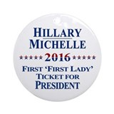 Hillary Clinton / Michelle Obama 2016 Ornament (Ro