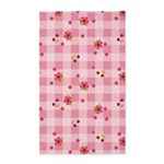 Flower Gingham Pink 3'x5' Area Rug