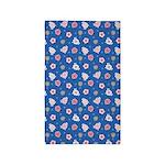 Flower Jeans Blue 3'x5' Area Rug