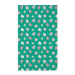 Flower Jeans Green 3'x5' Area Rug
