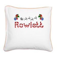 Rowlett, Christmas Square Canvas Pillow