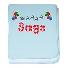 Sage, Christmas baby blanket