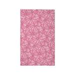 Flower Rainbow Pink/Pink 3'x5' Area Rug