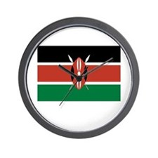 Kenya Flag Picture Wall Clock