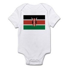 Kenya Flag Picture Infant Bodysuit