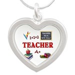 Teachers Do It With Class Silver Heart Necklace