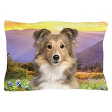 Sheltie Meadow Pillow Case