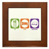Eat Sleep Philosophy Framed Tile