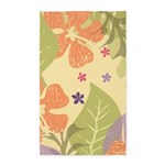 Flower Tropical Yellow 3'x5' Area Rug