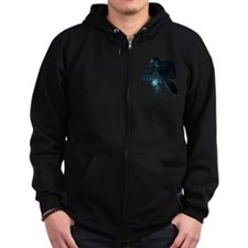 Light Raven Transparent Zip Hoodie