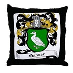 Ganser Coat of Arms Throw Pillow