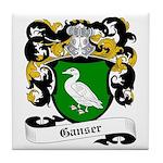 Ganser Coat of Arms Tile Coaster