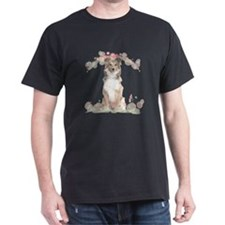 Sheltie Flowers T-Shirt