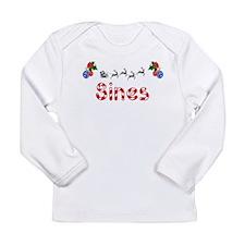 Sines, Christmas Long Sleeve Infant T-Shirt