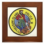 Treasure Island Police Framed Tile