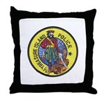 Treasure Island Police Throw Pillow