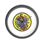 Treasure Island Police Wall Clock