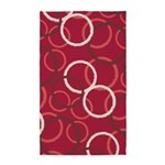 Geo Circles Red 3'x5' Area Rug