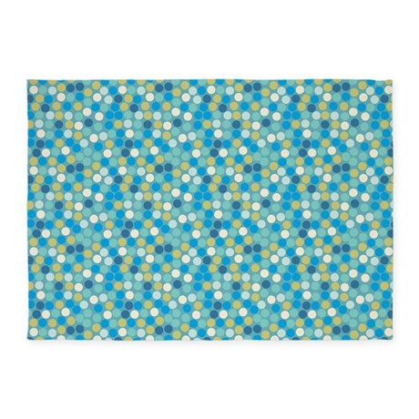 Geo Dots Mosaic Blue 5'x7'Area Rug
