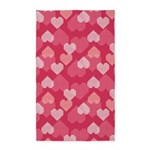 GEO Hearts Pink 3'x5' Area Rug