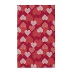 GEO Hearts Red 3'x5' Area Rug