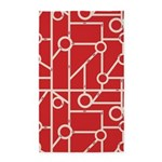 Geo Streets Red 3'x5' Area Rug