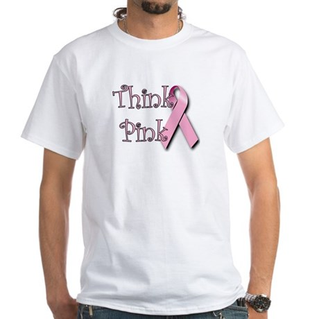 Think Pink (1) White T-Shirt