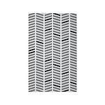 Geo Zig Black/White 3'x5' Area Rug
