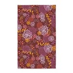 Layer Flowers Brown 3'x5' Area Rug