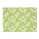 Leaves Cameo Green 5'x7'Area Rug