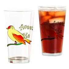 tweet me Drinking Glass