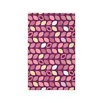 Leaves Purple/Pink 3'x5' Area Rug