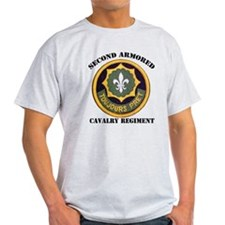 SECOND ARMORED CAVALRY REGIMENT Ash Grey T-Shirt