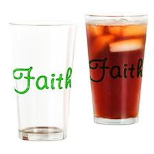 Faith Glitter Gel Drinking Glass