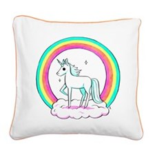 unicorn copy2.png Square Canvas Pillow