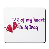 1/2 Heart in Iraq Mousepad