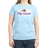 Love My Coastie Women's Pink T-Shirt