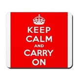 Cute Keep calm carry Mousepad