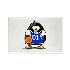 Basketball Penguin Rectangle Magnet (10 pack)