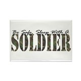 Sleep With A Soldier Rectangle Magnet