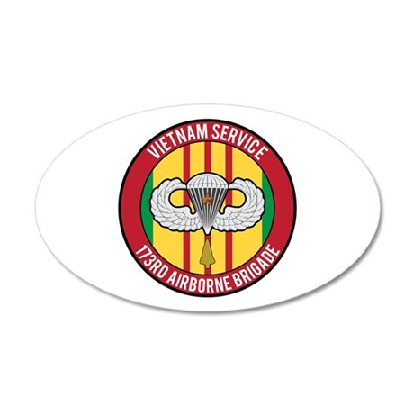 173rd Airborne Vietnam 20x12 Oval Wall Decal